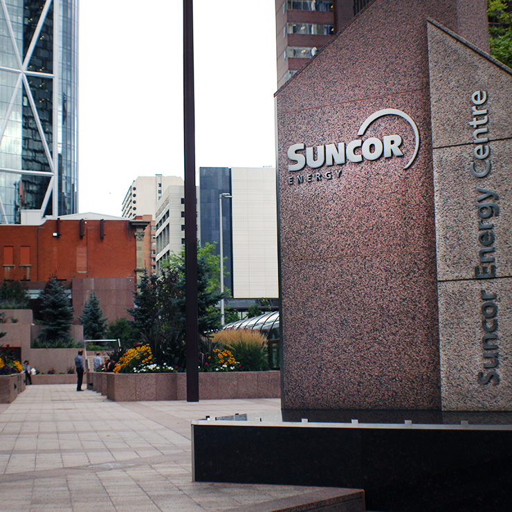 Suncor Plaza name plate
